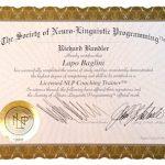 Certificato Licensed NLP Coaching Trainer di Lapo Baglini